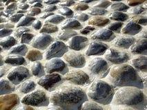 湿石头纹理 免版税库存图片