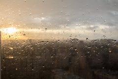 湿视窗 库存照片