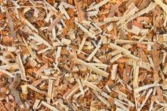 湿锯木屑背景  免版税库存图片