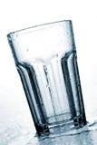 湿青斑的玻璃 库存照片
