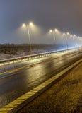 湿高速公路 免版税库存照片