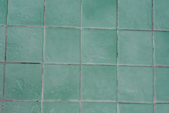 湿绿色瓦片 免版税库存照片