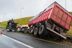 崩溃卡车 免版税库存图片