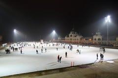 溜冰场在布达佩斯 图库摄影