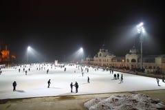 溜冰场在布达佩斯 免版税库存照片