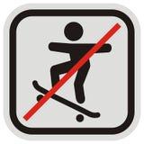 溜冰板者,路标 库存例证