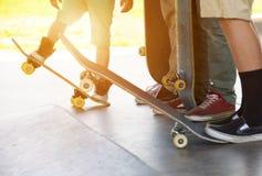 溜冰板者 库存照片