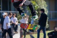 溜冰板运动 免版税库存照片