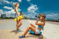 溜冰板运动 库存图片