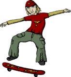 溜冰者向量 库存照片