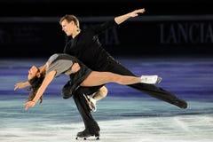 溜冰者埃琳娜Ilinykh & Nikita Katsalapov 库存图片