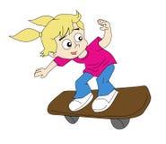溜冰者女孩 免版税库存照片