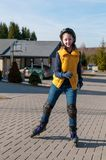 溜冰者年轻人 免版税库存图片