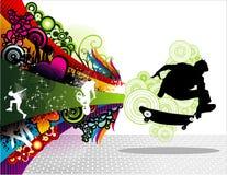 溜冰者炫耀向量 库存照片