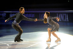 溜冰者玛格丽塔Drobiazko & Povilas Vanagas 免版税库存照片