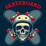 溜冰者的头骨 免版税图库摄影
