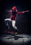 溜冰者窍门 免版税库存图片