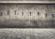 溜冰者街道画 免版税库存照片