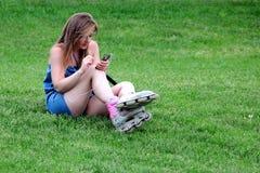 溜冰鞋女孩 图库摄影