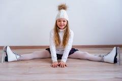 溜冰鞋的女孩 库存图片