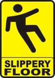 溜滑楼层的符号 免版税库存图片