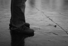 溜滑的立足处 免版税库存图片