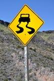溜滑的路 免版税库存图片