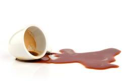 溢出的咖啡 免版税库存照片