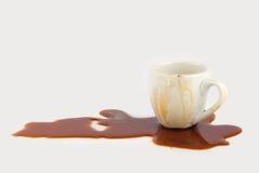 溢出的咖啡 库存图片