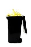 溢出的垃圾桶 免版税库存图片