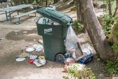 溢出的垃圾 免版税库存照片