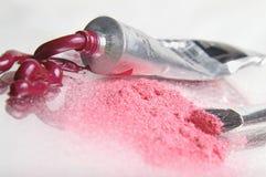 溢出的粉红色 免版税库存图片