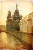 溢出的血液的救主,圣彼德堡,俄国 库存照片