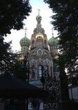 溢出的血液的教会在圣彼得堡俄罗斯 免版税库存照片