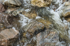 溪快速流动的水 免版税库存照片