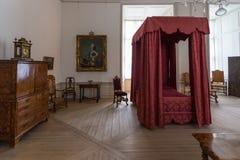 滑倒室在克伦堡宫殿在赫尔新哥,丹麦 库存照片