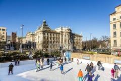 滑冰场Eiszauber在慕尼黑 免版税库存照片