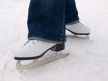 滑冰白色 免版税库存照片