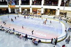 滑冰的环形 免版税库存照片