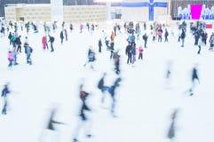 滑冰的环形 免版税库存图片