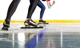 滑冰的速度起始时间 免版税图库摄影