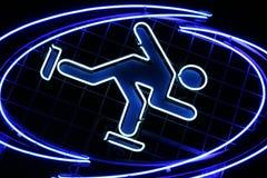 滑冰符号 免版税库存图片