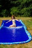 滑动的水 免版税图库摄影