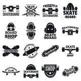 滑板商标集合,简单的样式 皇族释放例证