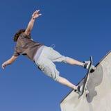 滑板窍门 免版税库存图片