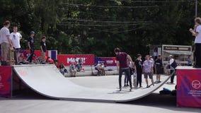 滑板训练在Sokolniki 影视素材
