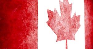 滑横跨难看的东西加拿大旗子的电影生气蓬勃的照相机 库存例证