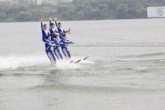 滑水竞赛 免版税库存照片