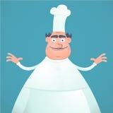滑稽主厨的厨师 免版税库存照片