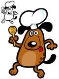 滑稽主厨的狗 免版税库存图片